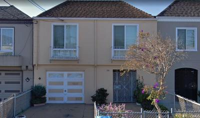 San Francisco Single Family Home For Sale: 1619 Wallace