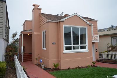 San Francisco Single Family Home For Sale: 224 Stratford Dr