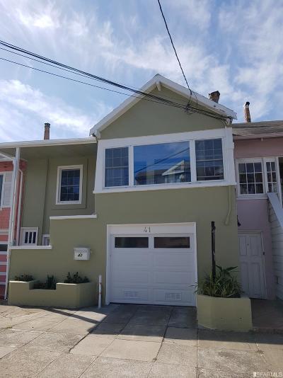 San Francisco Single Family Home For Sale: 41 Regent St