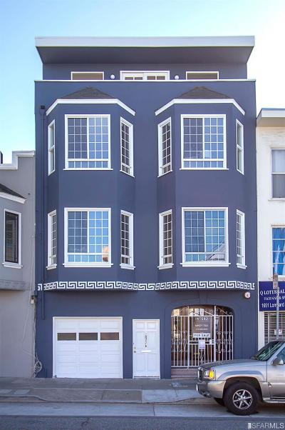 San Francisco Single Family Home For Sale: 1647 Lombard St