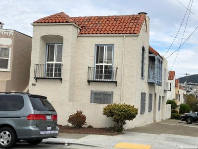 San Francisco County Single Family Home For Sale: 1594 32nd Ave