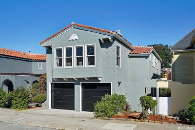 San Francisco Single Family Home For Sale: 31 Rosewood Dr