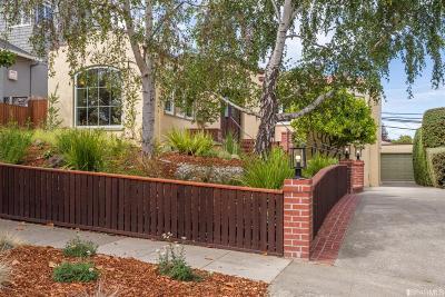 Burlingame Single Family Home For Sale: 2708 Hillside Dr