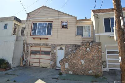 San Francisco Single Family Home For Sale: 480 Amherst St