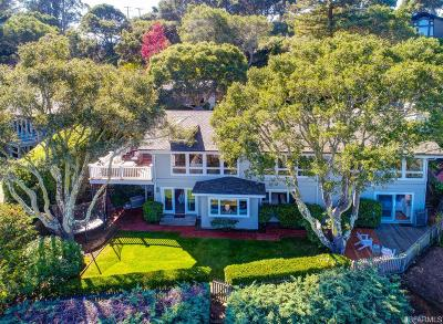 Belvedere Single Family Home For Sale: 36 Golden Gate Ave