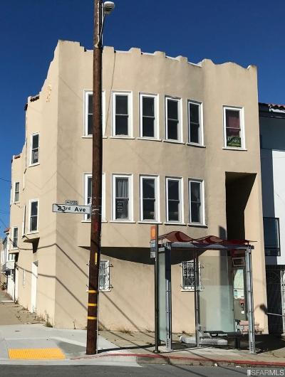 San Francisco Multi Family Home For Sale: 1697 1699 23rd Ave