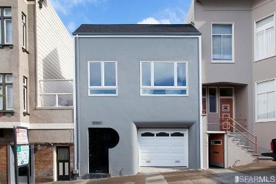 San Francisco County Single Family Home For Sale: 3050 Pierce St