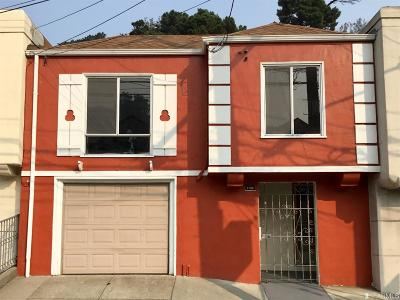 San Francisco Single Family Home For Sale: 1733 Geneva Ave