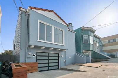 San Francisco Single Family Home For Sale: 619 Naples St