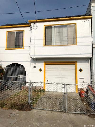 San Francisco Single Family Home For Sale: 1262 Quesada Ave