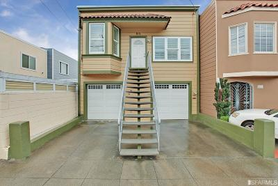 San Francisco Single Family Home For Sale: 815 Huron Ave