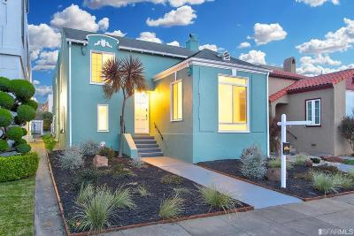 San Francisco County Single Family Home For Sale: 3028 20th Ave