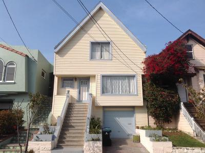 San Francisco Single Family Home For Sale: 34 Wanda St