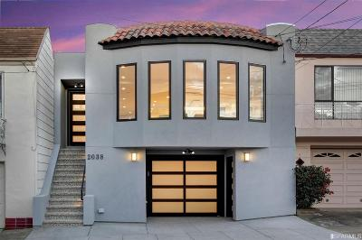 San Francisco Single Family Home For Sale: 2038 20th Ave