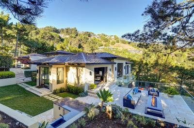 Marin County Single Family Home For Sale: 92 Mount Tiburon Rd