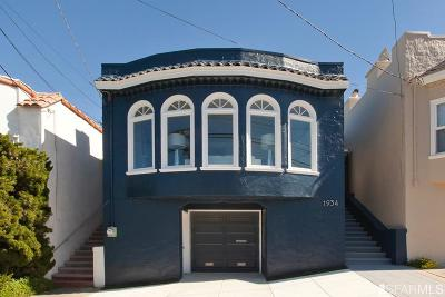 San Francisco Single Family Home For Sale: 1934 21st Ave