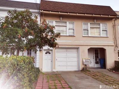 San Francisco Single Family Home For Sale: 762 48th Ave