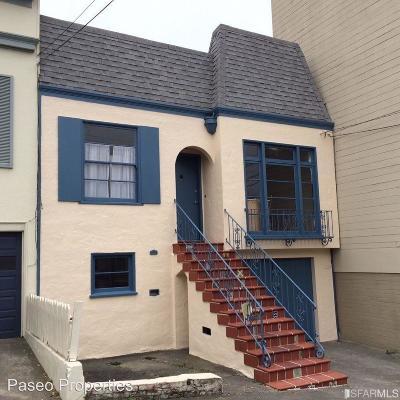 San Francisco Single Family Home For Sale: 2531 McAllister St