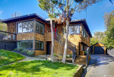 Marin County Single Family Home For Sale: 10 Tamalpais Ave
