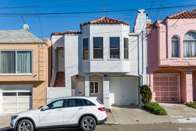 San Francisco Single Family Home For Sale: 838 Santiago St