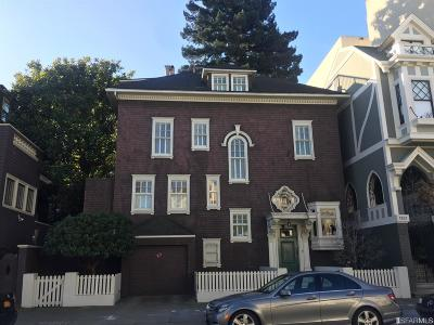 San Francisco CA Single Family Home For Sale: $4,895,000