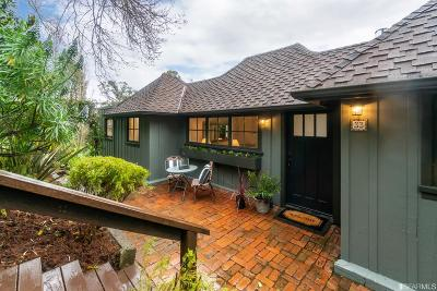 Marin County Single Family Home For Sale: 33 Morning Sun Ave