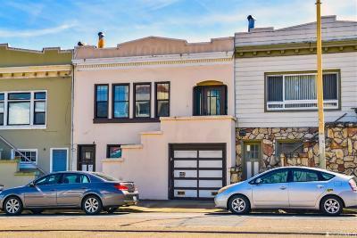 San Francisco Single Family Home For Sale: 1917 Judah St