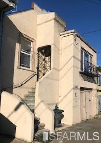 San Francisco Single Family Home For Sale: 1487 Underwood Ave