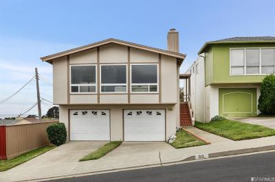 Daly City Single Family Home For Sale: 80 Beachside Ct