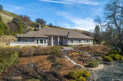 Solano County Single Family Home For Sale: 4125 Caligiuri Canyon Rd