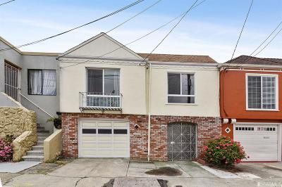 San Francisco County Single Family Home For Sale: 61 Carrizal St