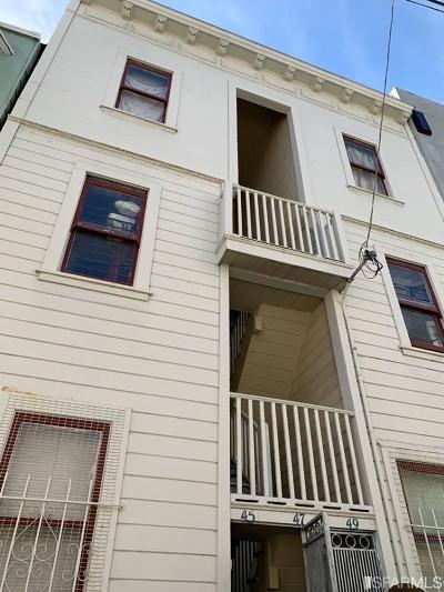 San Francisco Condo/Townhouse For Sale: 45 49 Bernard St #49