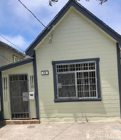 Daly City Single Family Home For Sale: 56 Miriam St