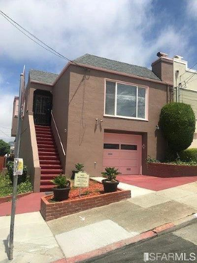 San Francisco County Single Family Home For Sale: 200 Monticello St
