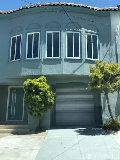 San Francisco County Single Family Home For Sale: 546 33rd Ave