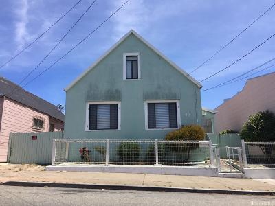 San Francisco County Single Family Home For Sale: 53 Vesta St