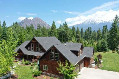 Mt Shasta CA Single Family Home For Sale: $1,450,000