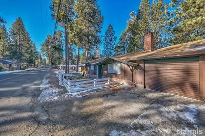 South Lake Tahoe CA Single Family Home For Sale: $318,000