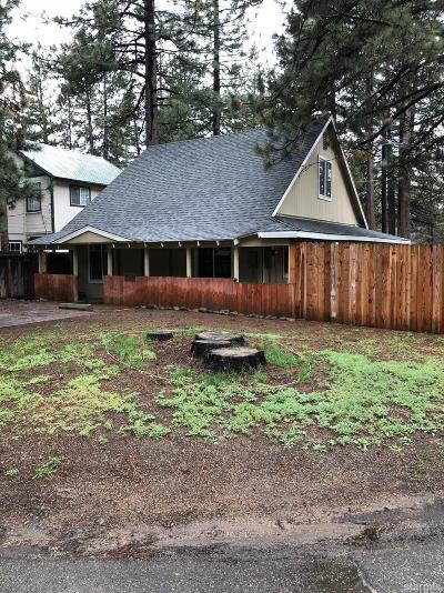 South Lake Tahoe CA Single Family Home For Sale: $319,900