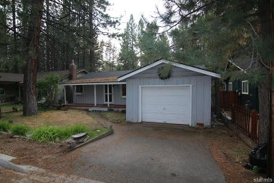 South Lake Tahoe CA Single Family Home For Sale: $294,500
