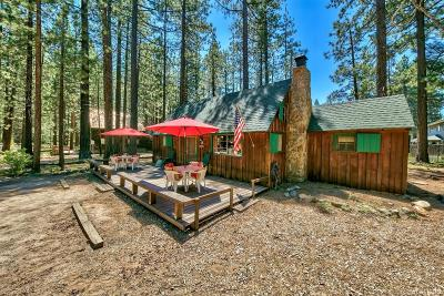 South Lake Tahoe CA Single Family Home For Sale: $289,000