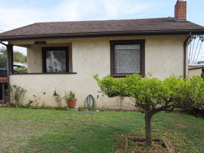 Santa Barbara County Single Family Home For Sale: 1308 Cacique St