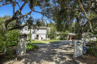 Santa Barbara County Single Family Home For Sale: 4691 Via Roblada