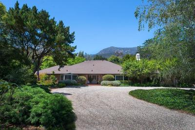 Santa Barbara County Single Family Home For Sale: 1864 E Valley Rd