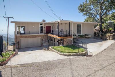 Santa Barbara County Single Family Home For Sale: 4825 Rim Rd