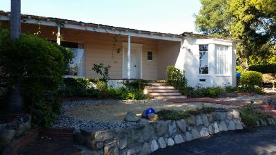 Santa Barbara County Single Family Home For Sale: 845 Via Hierba