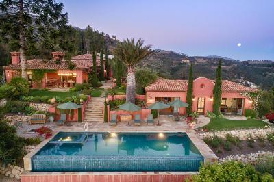 Santa Barbara Single Family Home For Sale: 3090 Hidden Valley Ln