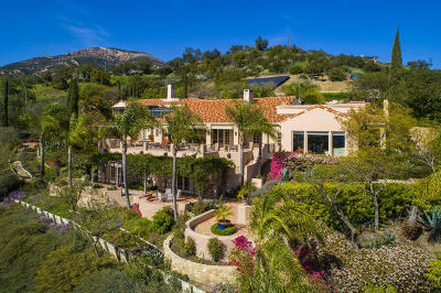 Santa Barbara County Single Family Home For Sale: 3756 Foothill Rd