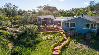 Santa Barbara County Single Family Home For Sale: 7475 Shepard Mesa Rd