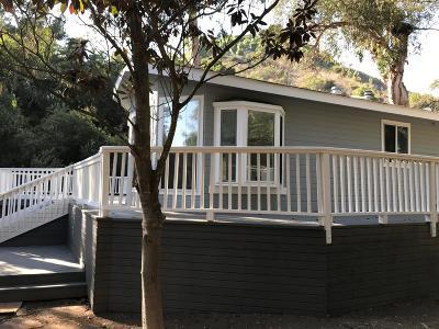 Santa Barbara County Single Family Home For Sale: 1625 Sycamore Canyon Rd